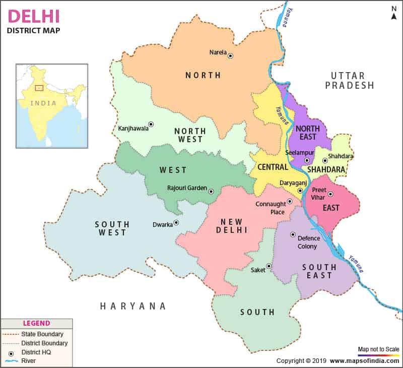 Delhi-district-map
